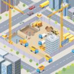 建設現場の機械
